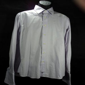David Donahue Dress Shirt with French Cuffs
